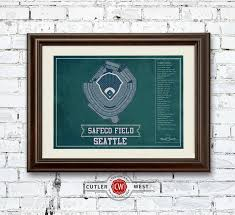 Safeco Seating Chart Seattle Mariners Safeco Field Vintage Seating Chart Baseball Print