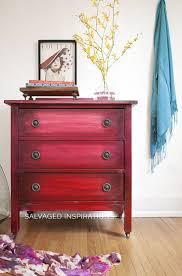 painted red furniture. Boho Ombre Paint Effect Painted Red Furniture T