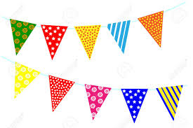 Triangle Banner Celebrate Decoration Banner Party Festival Triangle Flags Collection