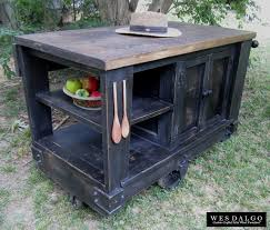 Kitchen Islands And Carts Furniture Modern Rustic Kitchen Island Cart With Walnut Stained Butcher