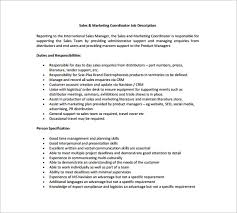 10+ Marketing Coordinator Job Description Templates | Free & Premium ...