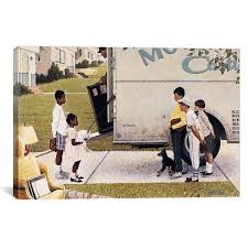 """iCanvas """"Moving In (New Kids In The Neighborhood)"""" by Norman ..."""