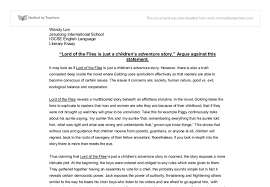 lord of the flies gcse english marked by teachers com document image preview