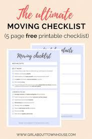 Ultimate Moving Checklist Free Printable Ingomar House Moving