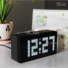 2018 White Light Led Digital Clock Electronic Wall Clock Bedroom Snooze  Alarm Clock Calendar And Temperature Table Clock From Ck_rain, $16.56 |  Dhgate.Com