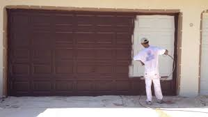 painting a metal garage door and preparing metal garage doors for painting diy doctor