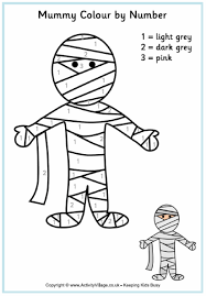 Small Picture Mummy Colouring Page