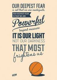 coach carter words to live by coach carter  coach carter quote our deepest fear pesquisa google