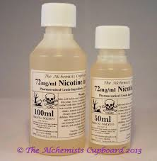 72mg ml liquid nicotine in vg for use in e liquids e liquid diy the purest available uk made