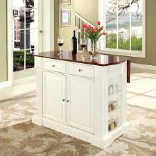 white oak wood wheeled kitchen island