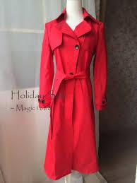 classic women trench coat cotton long coat spring coats long trenchcoats re0d raincoat red coat jackets red trench coats magic1668