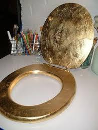 gold foil toilet seat. gold leaf toilet seat | flickr - photo sharing! foil e