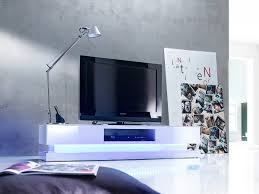 High Gloss White Tv Stand With Colourful Led Lights See More
