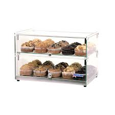 22 inch countertop food display case with square front glass and 50 l capacity omcan