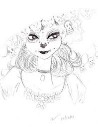 quick little sketch of la muerte from the book of life because i m ridiculously