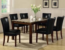 Cherry Wood Kitchen Table Sets Coaster Telegraph 120310 4077blk Brown Wood And Marble Dining