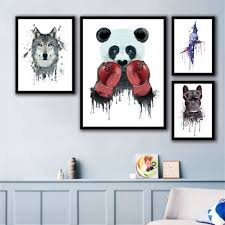 New Style <b>Wall Artwork Canvas Prints Animal</b> Panda Home Baby ...