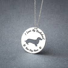 personalised longhaired dachshund dachshund dics necklace loading zoom