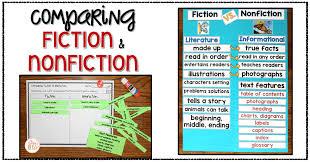 Fiction Vs Nonfiction Anchor Chart Fiction Vs Nonfiction Teaching Ideas Mrs Winters Bliss