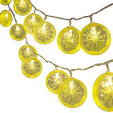Lemon Powered Light Amazon Com Hongxin Novelty Lemon Fairy String Lights With