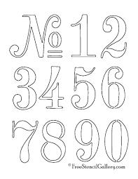 Numbers Stencil Stencil Patterns Letter Stencils Stencils
