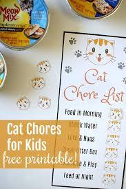 Pet Care For Kids Free Printable Kids Pet Chores Chart