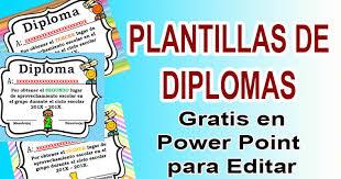Plantillas De Diplomas En Power Point Para Editar Biblioteca Del
