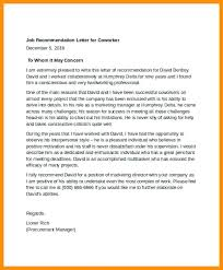 Job Recommendation Letter Job Recommendation Sample Reference Letter ...
