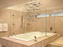 lighting bathrooms modern chandelier above the bathtub on bathroom bathtub lighting