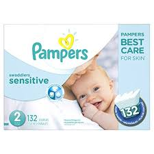 pampers swaddlers size 2 132 count pampers swaddlers sensitive disposable diapers size 2 132 count