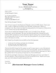Cover Letter Restaurant Example Restaurant Manager Cover Letter Sample Templates Pinterest