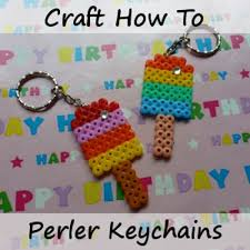 Beaded Keychain Patterns Classy How To Make A Perler Bead Keychain Tutorial