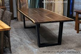 raw edge dining table. Black Walnut Live Edge Slab Dining Table For Chicago Area Client From Great Spirit Furniture Company Raw