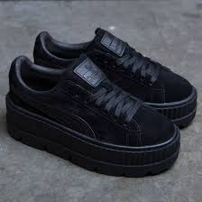 puma shoes suede black. puma x fenty by rihanna women cleated creeper suede (black / black) shoes black