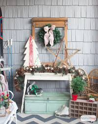 vintage inspired christmas porch ideas the creative corner 72