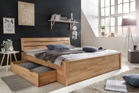 Massivholzbett Schlafzimmerbett Reno Bett Kernubuche Massiv 180x200