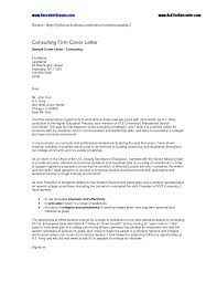 Consulting Cover Letter  sample financial analyst cover letter
