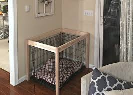 dog crate diy table build by snazzylittlethings com