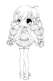 Chibi Coloring Page Anime Girl Coloring Page Pages Charming Design