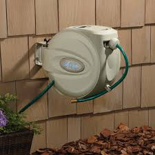 Hose-A-Matic Wall-Mount Garden Hose Reel  Holds 5/8in