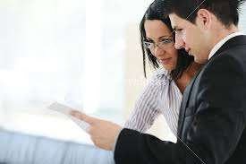 Personal Financial Advisor Using Tablet Royalty Free Stock