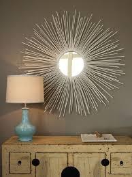 sun mirror wall art diy