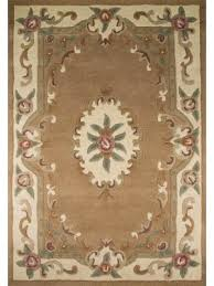quick view lotus premium aubusson fawn rug