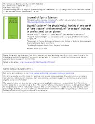 pdf countermovement jump performance is not affected during an in season microcycle in elite youth soccer players