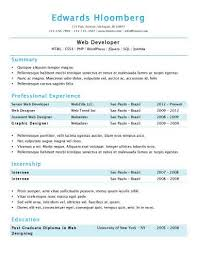 Simple Resume Format Inspiration Simple Resume Templates [60 Examples Free Download]