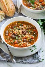 beef barley soup stovetop crockpot