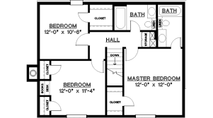 3 Bedroom 2 Bath House Plans Interesting Design Inspiration