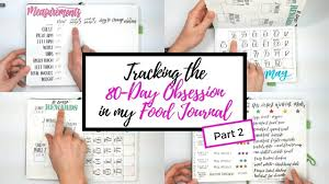80 day obsession workout calendar 80 day obsession in my food journal part 2 flip through