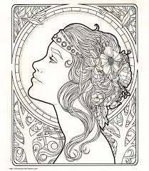 art nouveau coloring pages funycoloring colouring book
