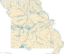 Missouri River Depth Chart Map Of Missouri Lakes Streams And Rivers